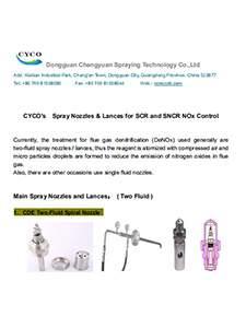 cyco denox nozzles and spray lance